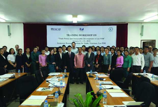 "training workshop on ""Trade Policy and Sustainable Development in Lao PDR"""