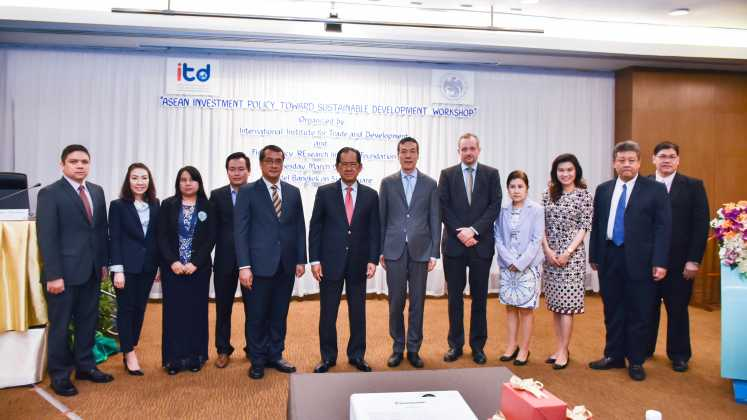 "ITD opens ""Asean Investment Policy towatd Sustainable Development Workshop"""
