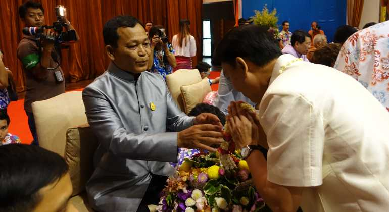 """The director of ITD attended Songkarn Festival """"Ministry of Education Inherits Thai Culture"""" of 2016"""