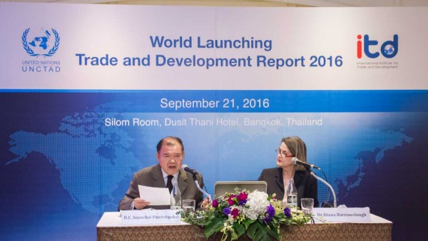ITD cooperates with UNCTAD to present report of World Trade and Development 2016