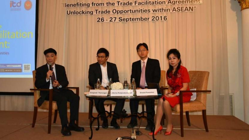 """ITD จัดงานสัมมนาเชิงปฏิบัติการ เรื่อง""""การใช้ประโยชน์จากความตกลง TFA: โอกาสการค้าไทยสู่คู่ค้าอาเซียน"""" [กรุงเทพฯ]"""