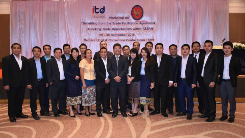 "ITD จัดงานสัมมนาเชิงปฏิบัติการ เรื่อง""การใช้ประโยชน์จากความตกลง TFA: โอกาสการค้าไทยสู่คู่ค้าอาเซียน"" [อุดรานี]"