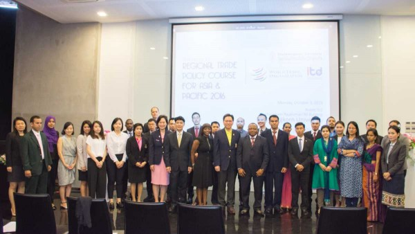"TD arranges the regional training course ""The Regional Trade Policy Course for Asia and Pacific"