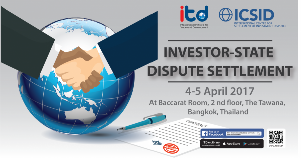 "TRAINING WORKSHOP ON  ""INVESTOR-STATE DISPUTE SETTLEMENT"""
