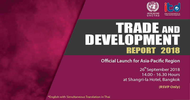 UNCTAD's Trade & Development Report 2018