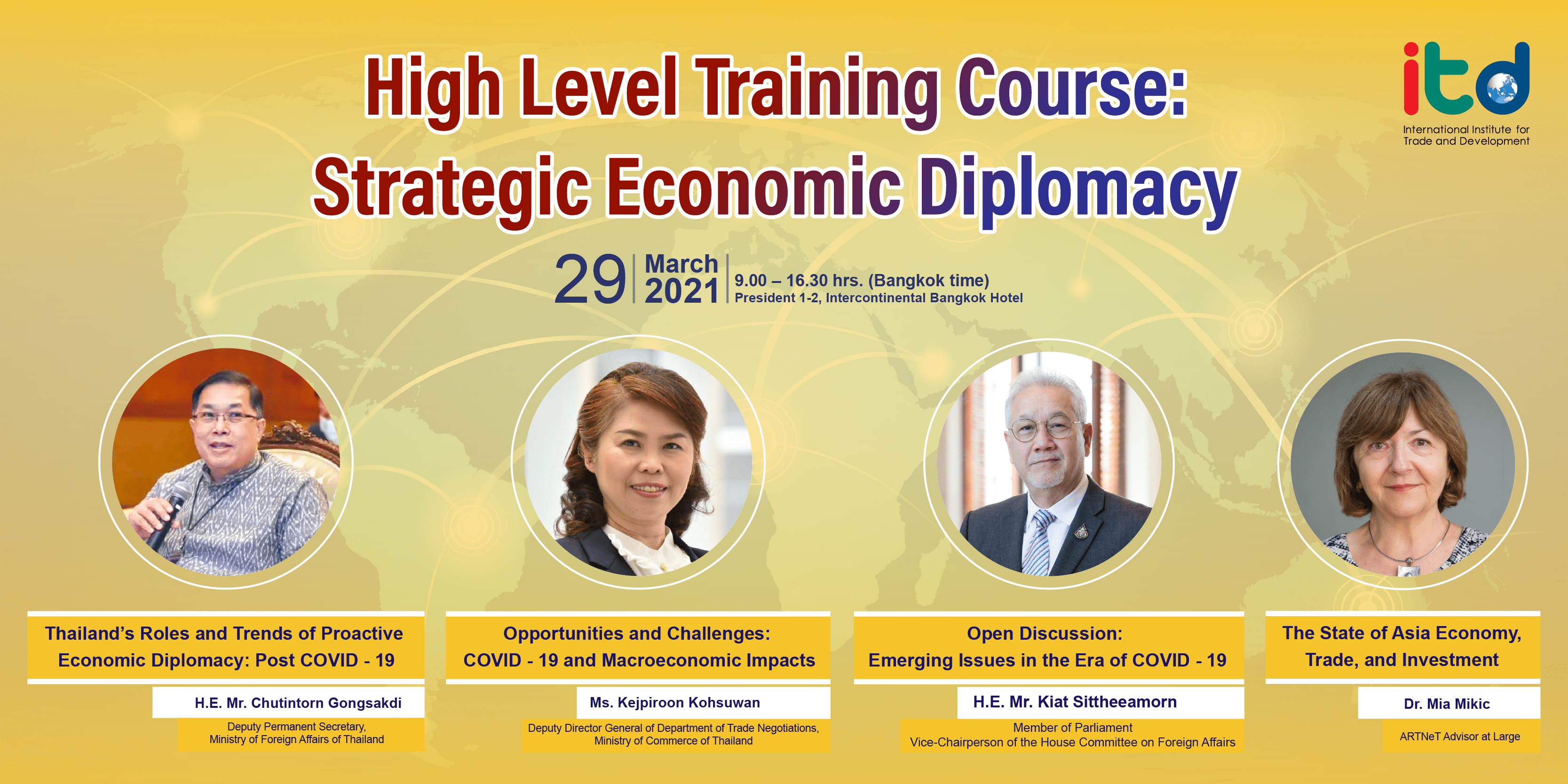 High Level Training Course: Strategic Economic Diplomacy